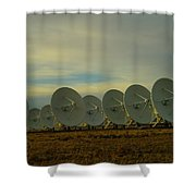 Very Large Array Near Socorro New Mexico Shower Curtain