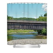 Very Long Covered Bridge Shower Curtain