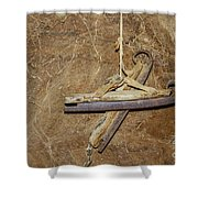 Very Old Ice Skates Shower Curtain