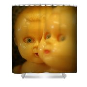 Very Scary Doll Shower Curtain