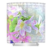 Very Tiny Wildflower Boquet Digital Paint Shower Curtain