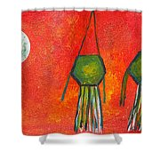Vesak Lanterns Shower Curtain