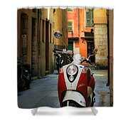 Nicoise Scooter Shower Curtain