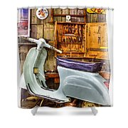 Vespa Scooter Shower Curtain
