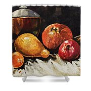 Vessel And Fruit Shower Curtain