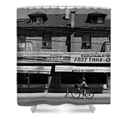 Vesta Lunch 1b Shower Curtain