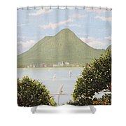 Vesuvius And Umbrella Pine Tree Shower Curtain