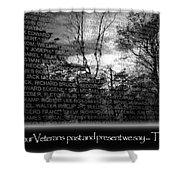 Veteran's Day  Shower Curtain