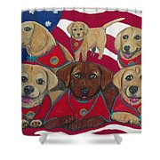 Vets Moving Forward Pups Shower Curtain