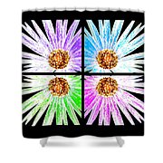 Vexel Flower Collage Shower Curtain