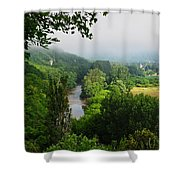 Vezere River Valley Shower Curtain