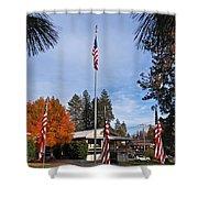 Vfw Hall Veterans Day Shower Curtain