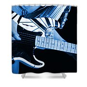 Vh #3 In Blue Shower Curtain