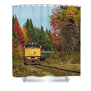 Fall Colours With Train Shower Curtain