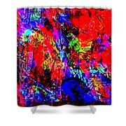 Vibrance Personified Into A Physical Object Shower Curtain