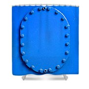 Vibrant Blue Cover Shower Curtain