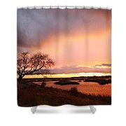 Storm At Dusk 2am-108350 Shower Curtain
