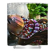 Vibrant Koi Shower Curtain