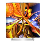 Vibrant Love Abstract Shower Curtain