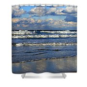 Vibrant November Clouds Shower Curtain