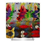 Vice Versa Pop Art Shower Curtain
