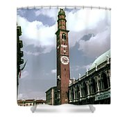 Vicenza Clock Tower Shower Curtain