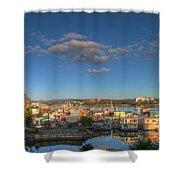 Victoria Bc Fisherman's Wharf Shower Curtain