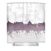 Victoria British Columbia Skyline - Purple 03 Shower Curtain