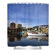 Victoria Dock Hobart Tasmania Shower Curtain