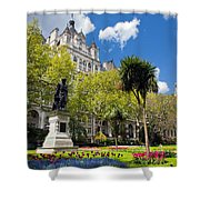 Victoria Embankment Gardens In London Uk Shower Curtain