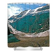 Victoria Glacier From Plain Of Six Glaciers In Banff Np-alberta Shower Curtain