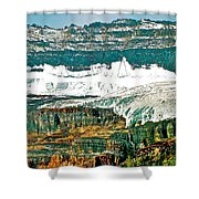 Victoria Glacier From Plain Of Six Glaciers Trail In Banff Np-ab Shower Curtain