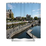 Victoria Harbour With Empress Hotel Shower Curtain