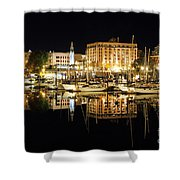 Victoria Inner Harbour At Night Shower Curtain