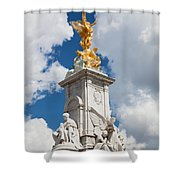 Victoria Memorial Next To Buckingham Palace London Uk Shower Curtain