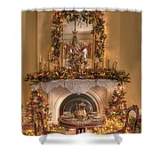 Victorian Christmas By The Fire Shower Curtain