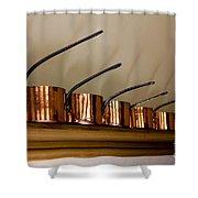 Victorian Copper Pots Shower Curtain