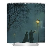 Victorian Couple At Night Shower Curtain