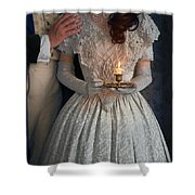 Victorian Couple At Night With Candle Shower Curtain