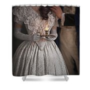 Victorian Couple By Candlelight Shower Curtain