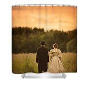 Victorian Couple In A Summer Meadow Shower Curtain
