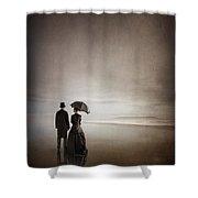Victorian Couple On The Beach Shower Curtain