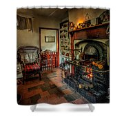 Victorian Fire Place Shower Curtain by Adrian Evans