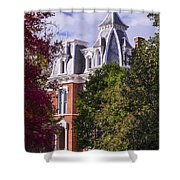 Victorian Home In Autumn Photograph As Gift For The Holidays Print Shower Curtain