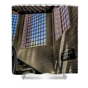 Victorian Jail Staircase Shower Curtain