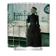 Victorian Lady In A Bedroom Shower Curtain