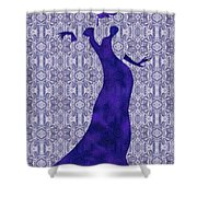 Victorian Lady In Blue Shower Curtain