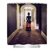 Victorian Lady In Hallway Shower Curtain