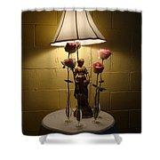 Victorian Lamp And Roses Shower Curtain