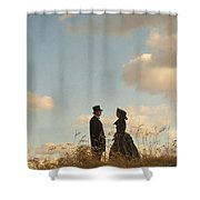 Victorian Man And Woman Shower Curtain